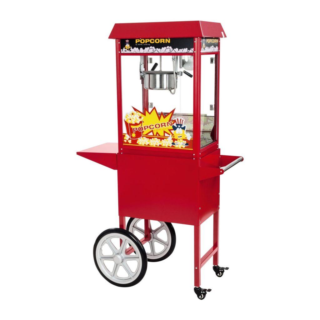 Stroj na popcorn s vozíkem 1600W RCPW-16E