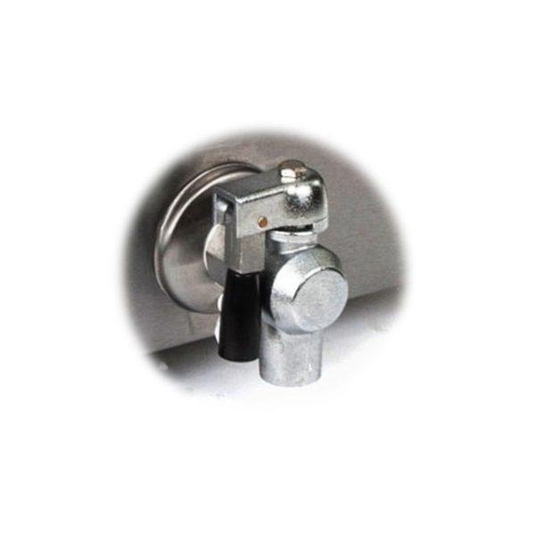 Fritéza 2 x 16 L - silnoproud (1010) - výpustný ventil