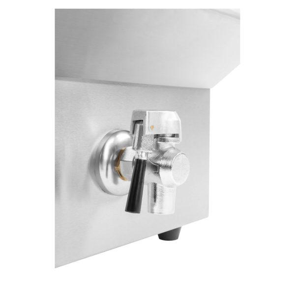 Indukčná fritéza - 1 x 10 L (1144) - vypušťací ventil
