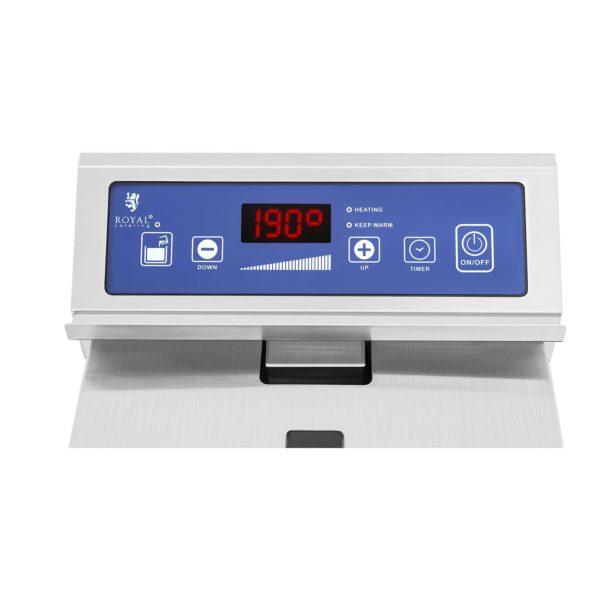 Indukčná fritéza - 1 x 10 L (1145) - regulácia teploty