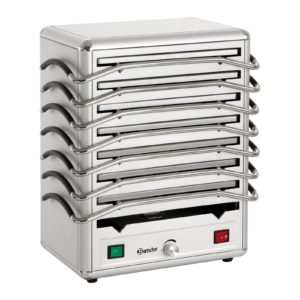 Bartscher ohřívač s 8 deskami - hliník - stříbrná 120802 - 1