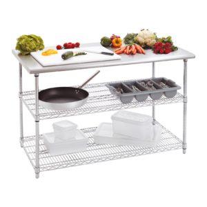Bartscher pracovní stůl 690 - Š1300 - 2 variabilní plochy 601153 - 1