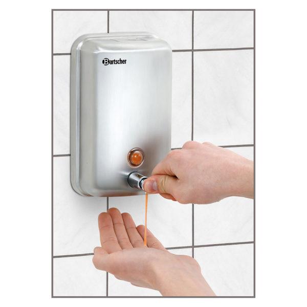 Bartscher zásobník na tekuté mýdlo- na montáž na stěnu - 1 l 850007 - 1