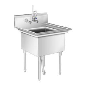 Mycí stůl - 1 dřez -75 x 75 x 111 cm RCHS-8 - 1 (mycí stul)
