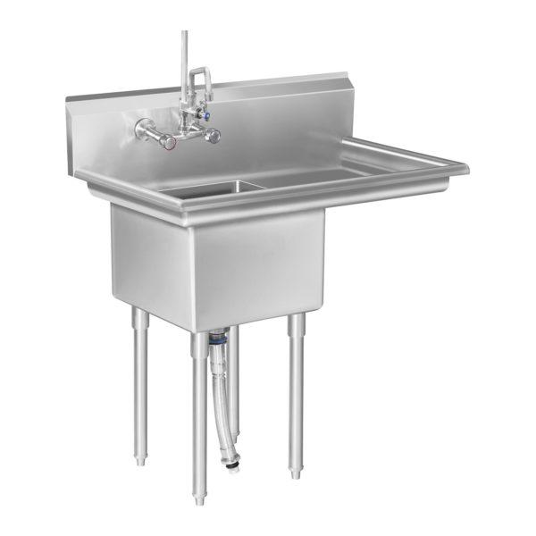 Mycí stůl - 1 dřez a plocha na odkapávání vpravo RCHS-6 - 1 (mycí stul)