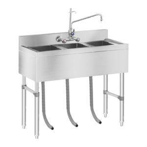 Mycí stůl - 3 dřezy - 100 x 50 x 97 cm RCHS-5 - 1 (mycí stul)