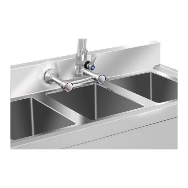 Mycí stůl - 3 dřezy - 100 x 50 x 97 cm RCHS-5 - 2