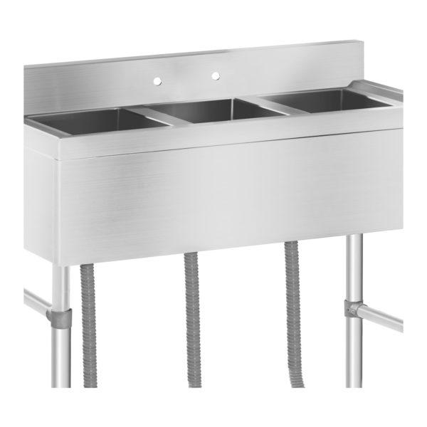 Mycí stůl - 3 dřezy - 100 x 50 x 97 cm RCHS-5 - 3