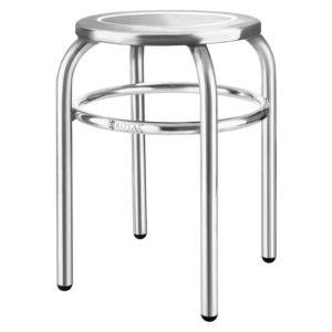 Nerezová stolička - průměr 29 cm RCEH-40 - 1 (nerezová stolička)