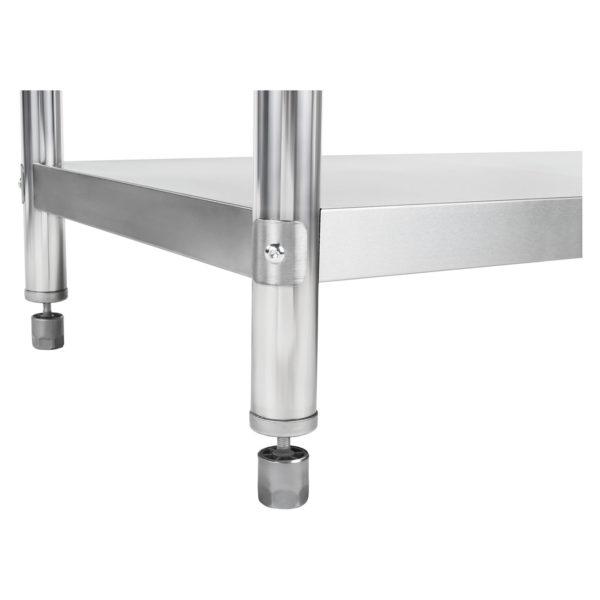 Nerezový pracovní stůl - 100 x 60 cm - s lemy RCAT-10060-S - 6