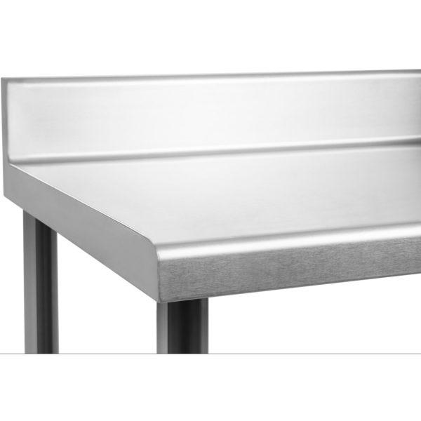 Nerezový pracovní stůl - 100 x 70 cm - s lemy RCAT-10070-S - 3