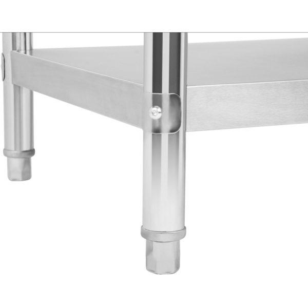 Nerezový pracovní stůl - 100 x 70 cm - s lemy RCAT-10070-S - 4