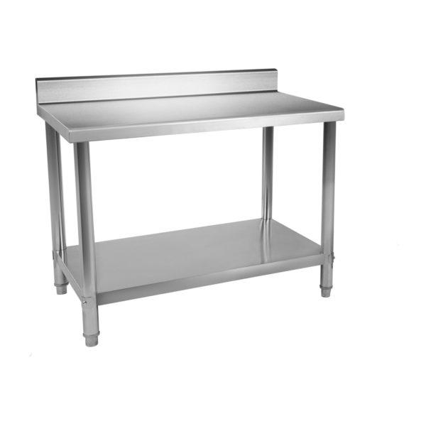 Nerezový pracovní stůl - 120 x 60 cm - s lemy RCAT-12060-S - 2