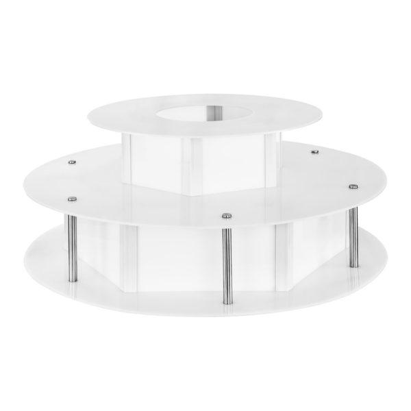 Osvětlený stůl na fontánu na čokoládu - 100 cm RCCF-BASE LED - 1