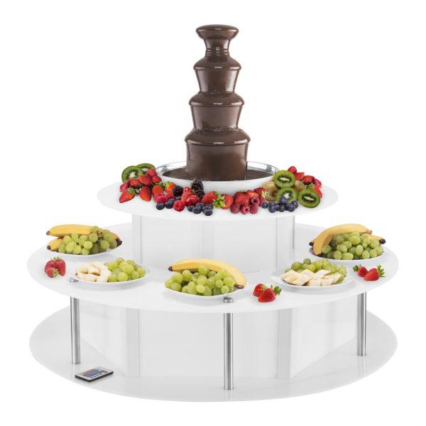Osvětlený stůl na fontánu na čokoládu - 100 cm RCCF-BASE LED - 4
