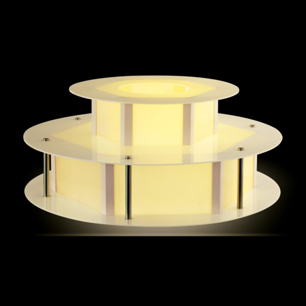 Osvětlený stůl na fontánu na čokoládu - 100 cm RCCF-BASE LED - 6