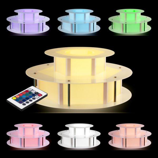 Osvětlený stůl na fontánu na čokoládu - 100 cm RCCF-BASE LED - 7