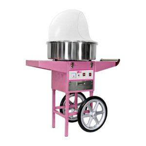 Stroj na cukrovou vatu - 52 cm - včetně vozíku - ochranný kryt RCZC-1200E - 1