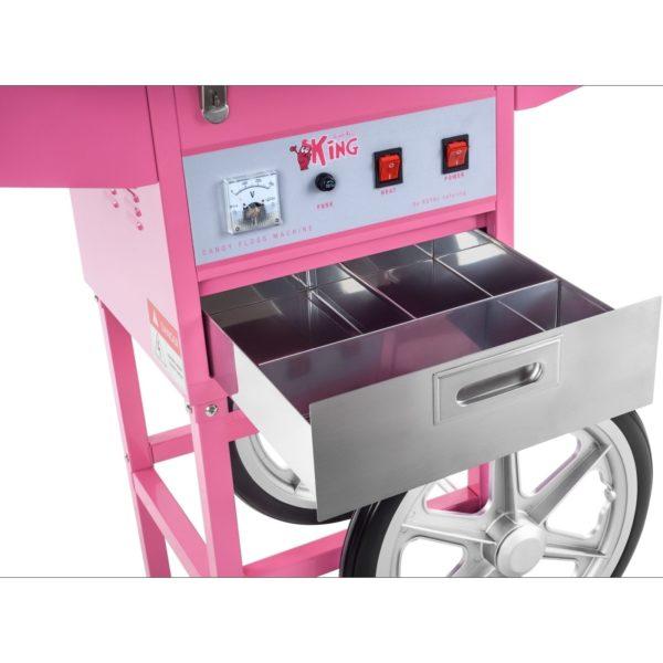 Stroj na cukrovou vatu - 52 cm - včetně vozíku - ochranný kryt RCZC-1200E - 7