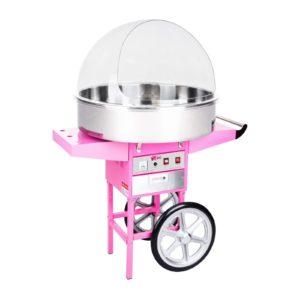 Stroj na cukrovou vatu s vozíkem - 72 cm - ochranný kryt RCZC-1200XL - 1