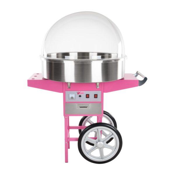 Stroj na cukrovou vatu s vozíkem - 72 cm - ochranný kryt RCZC-1200XL - 4