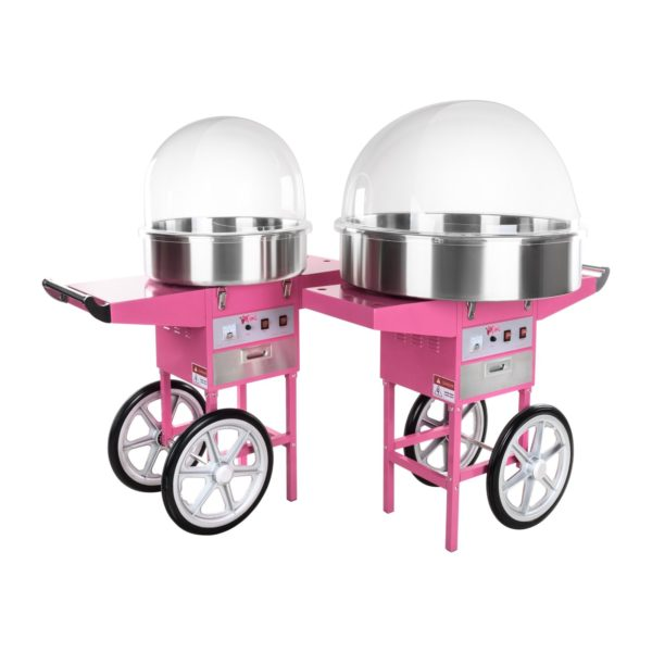 Stroj na cukrovou vatu s vozíkem - 72 cm - ochranný kryt RCZC-1200XL - 8