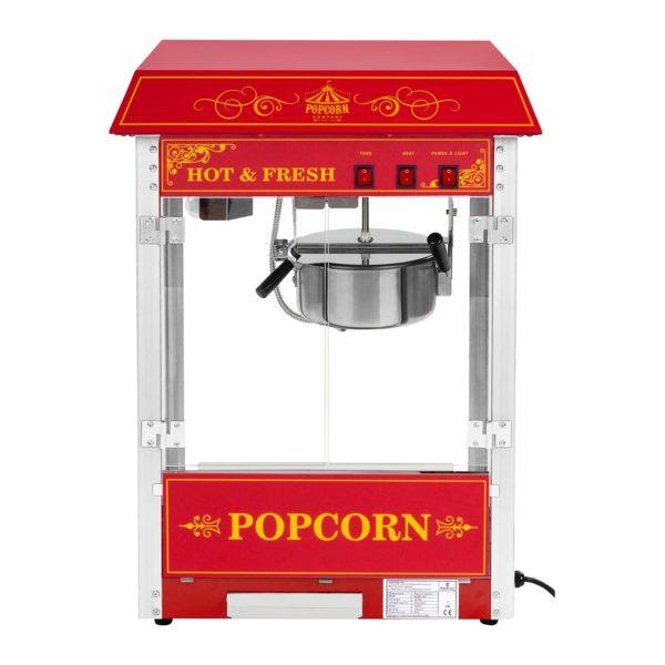 Stroj na popcorn červený - americký design RCPS-16.3 - 2
