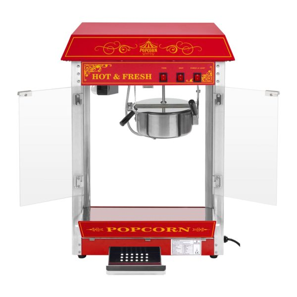 Stroj na popcorn červený - americký design RCPS-16.3 - 3