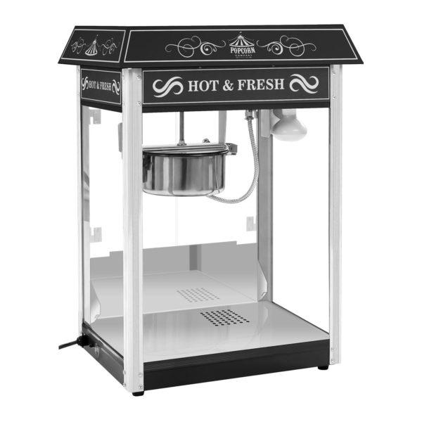 Stroj na popcorn s vozíkem - černý RCPW.16.2 - 2