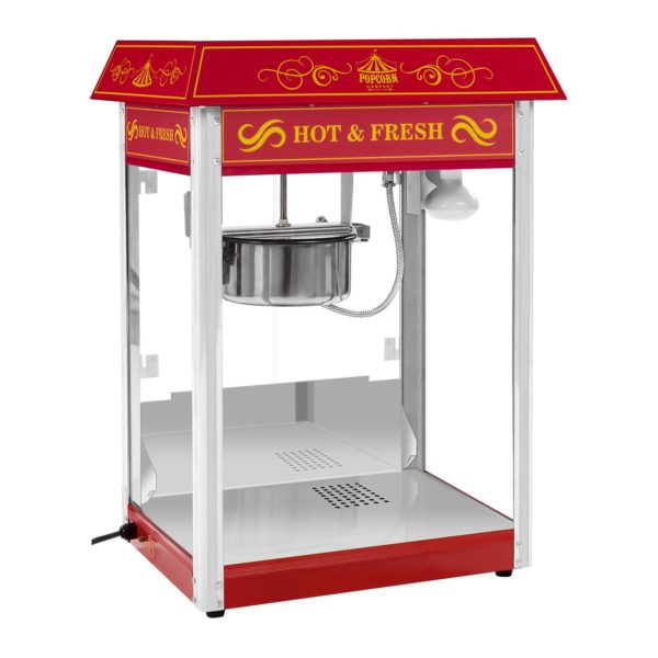 Stroj na popcorn s vozíkem - červený RCPW.16.2 - 2
