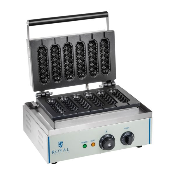 Vaflovač - 1 x 1.500 wattů- oválný - Corn Dog RCWM-1500-S - 1 (vaflovač)