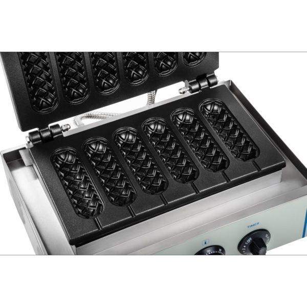 Vaflovač - 1 x 1.500 wattů- oválný - Corn Dog RCWM-1500-S - 2