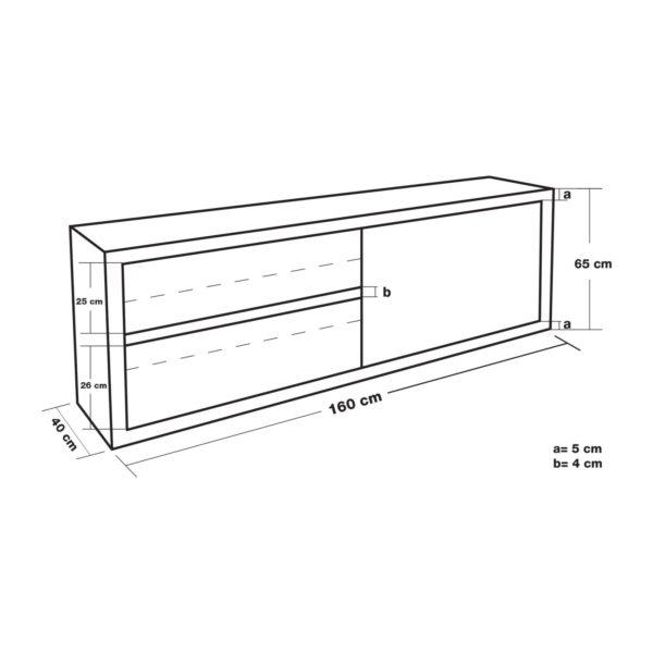 Závěsná skříň - 160 cm RCHC-16040 - 5