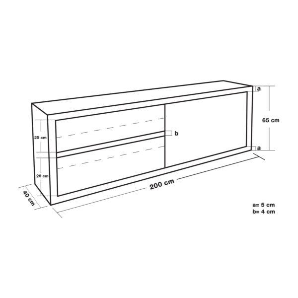 Závěsná skříň - 200 cm RCHC-20040 - 4