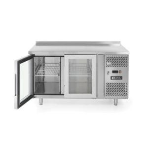 2-dveřový prosklený chladící stůl s bočním agregátem 1360x700x850 mm HENDI, 233429