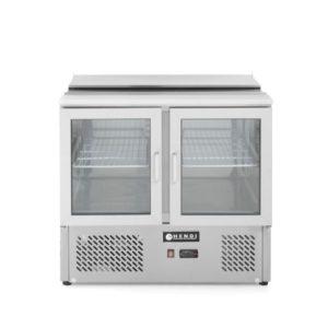 2-dveřový prosklený chladící stůl s odklopným víkem 900x700x850 mm HENDI, 232743 -1