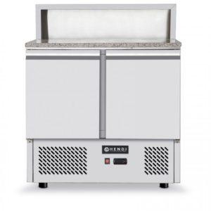3-dveřový chladící salátový stůl s nástavbou a granitovou deskou 1365x700x1120 mm HENDI, 232873 - 1
