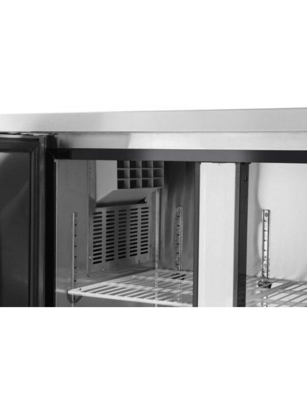 3-dveřový mrazící stůl s bočním agregátem 1800x600x850 mm HENDI, Kitchen Line - 4