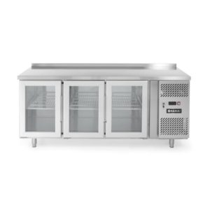 3-dveřový prosklený chladící stůl s bočním agregátem 1795x700x850 mm HENDI, 233436