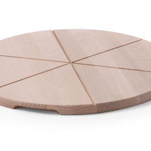 Dřevěný talíř pod pizzu o průměru 400 mm HENDI, 505564 -1