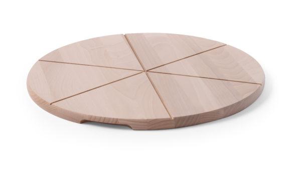 Dřevěný talíř pod pizzu o průměru 500 mm HENDI, 505588 -1