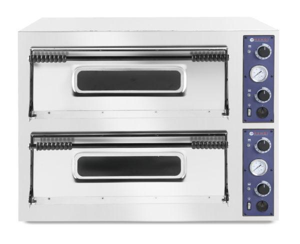 Pizza pec dvoukomorová XL, 18 x pizza 35 cm, 1305x1345x745 mm HENDI, Kitchen Line
