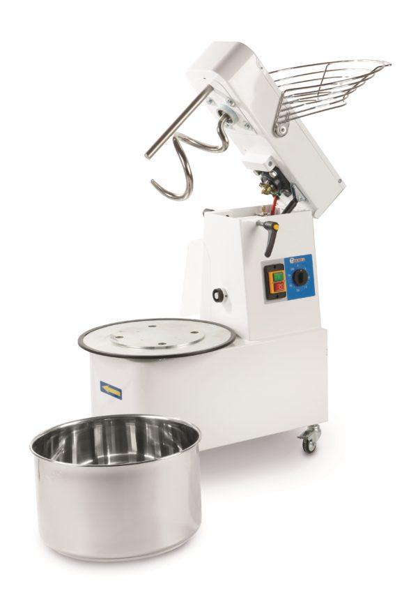 Spirálový hnětač se zvedací hlavou a odnímatelnou nádobou 22 l, 0,75 kW HENDI, 226346 - 1