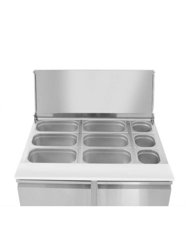 Chladící stůl s posuvným víkem 900x698x888 mm HENDI, 232804 - 2