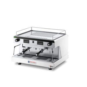 Espresso kávovar, dvoupákový bílý HENDI, Top Line By Wega - 1 délka: 740 mm šířka: 555 mm výška: 515 mm materiál: nerezová ocel příkon: 3.7 kW napětí: 230/380 V váha: 62 kg
