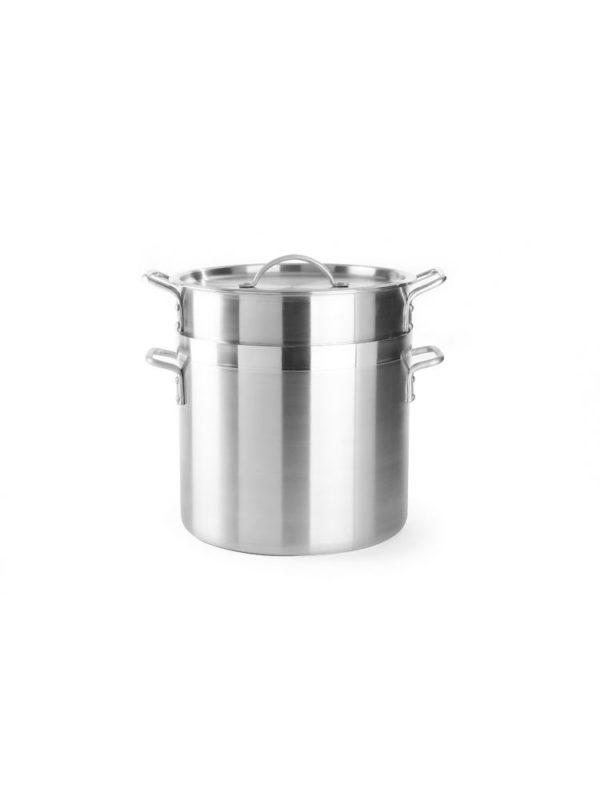 Napařovací hrnec na knedlíky, rýži, těstoviny s vložkou a poklicí Ø 325 mm, 30 L | HENDI, 613603 Série Profi Line s perforovanou vložkou a poklicí.