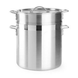 Napařovací hrnec na knedlíky, rýži, těstoviny s vložkou a poklicí Ø 355 mm, 40 L | HENDI, 613702 - 1