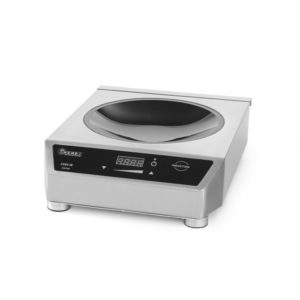Iukční wok 3,5 kW | HENDI, 239766 Profi Line. Nerezové opláštění, digitální časovač výkonu, teploty a času. Snadné na čištění.