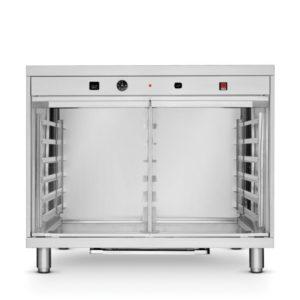 Kynárna, 12x 600x400 mm HENDI, 225981 - 1 Délka: 935 mm Šířka: 910 mm Výška: 800 mm Kapacita komory: 12 plechů Rozměr plechu: 600x400 mm Rozteč mezí zásuvy: 75 mm Materiál: nerezová ocel Min. teplota: 30 °C Max. teplota: 60 °C Napájení: elektrické Příkon: 2.4 kW Napětí: 230 V Váha: 57.71 kg