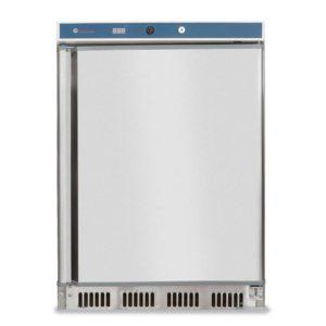 Mrazící skříň z nerezové oceli 120 L | HENDI, 232590 Budget Line-1 Mrazící skříň se statickým chlazením. Teplotní rozsah: 18°C/-22°C. Vnější opláštění z nerezové oceli.